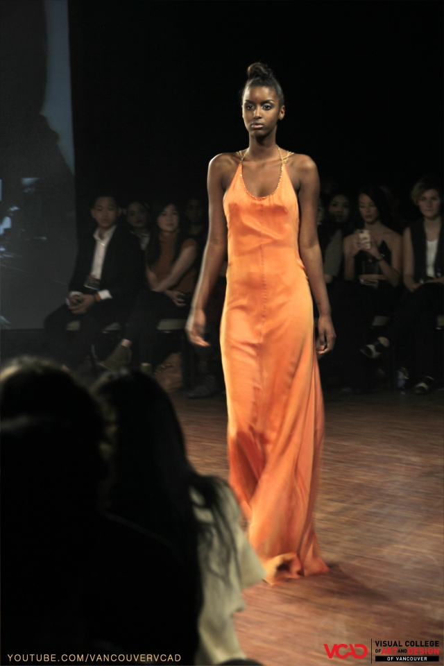 VCAD ONwards Fashion Show 2013 – Chardonnay Yellow Long Dress