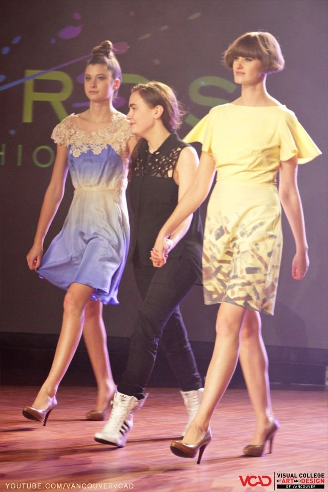 VCAD ONwards Fashion Show 2013 – Tennille Oppen with two of he