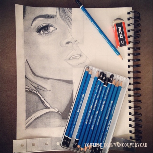 Life at VCAD on Instagram by randilb - Rihanna Sketch